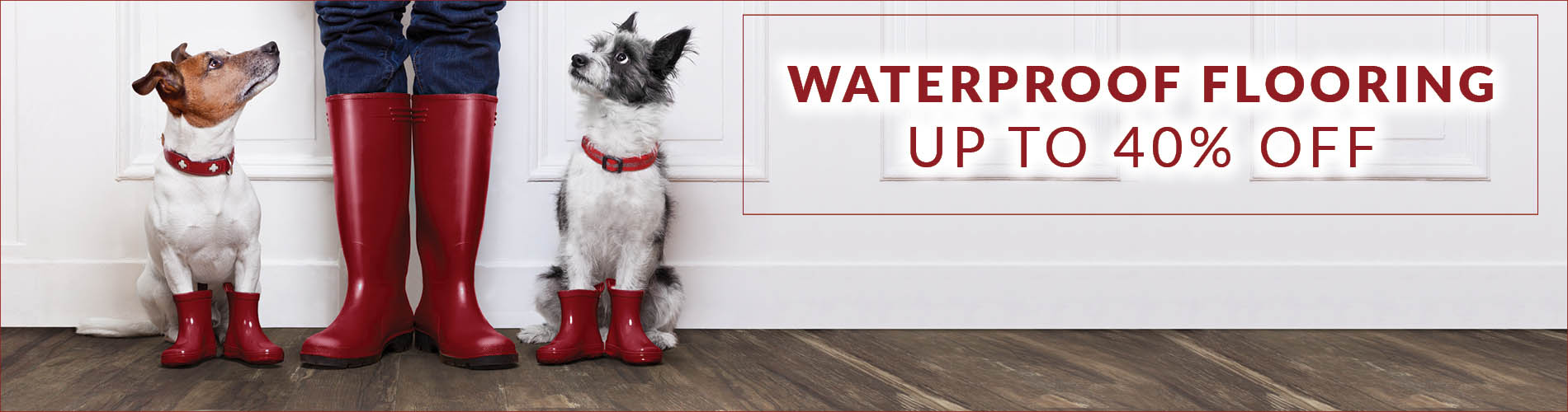 Waterproof Flooring up to 40% OFF this month at Flooring USA in Stuart.