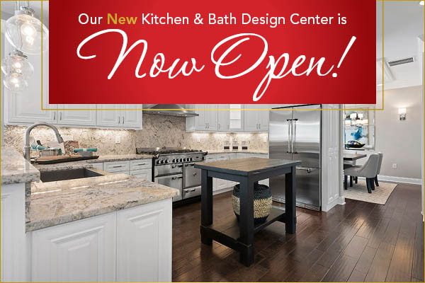 Our new kitchen & bath design center is now open!  Come visit us today!
