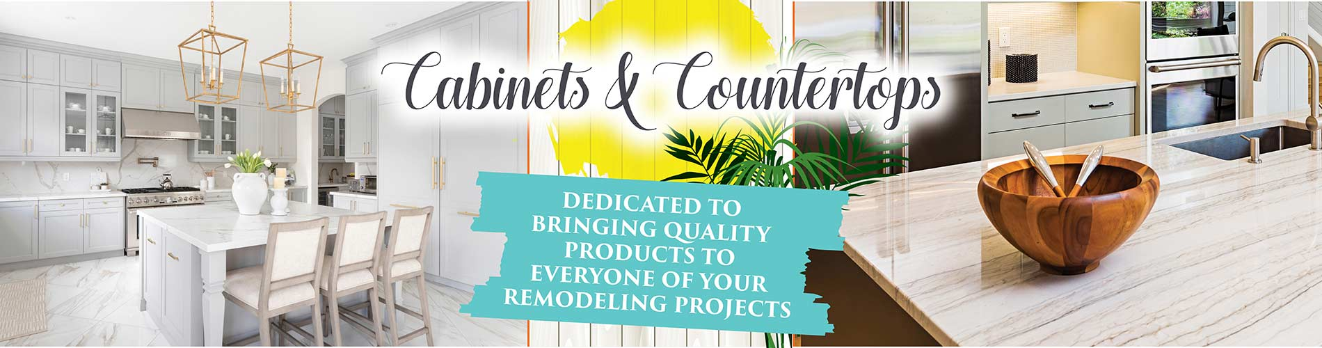 Featuring Cabinets and Countertops for your Remodeling Project at at Flooring USA in Stuart!
