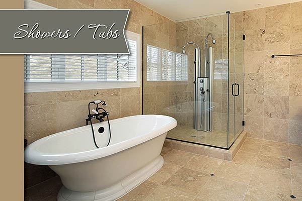 Great prices on new showers and tubs at Flooring USA in Stuart