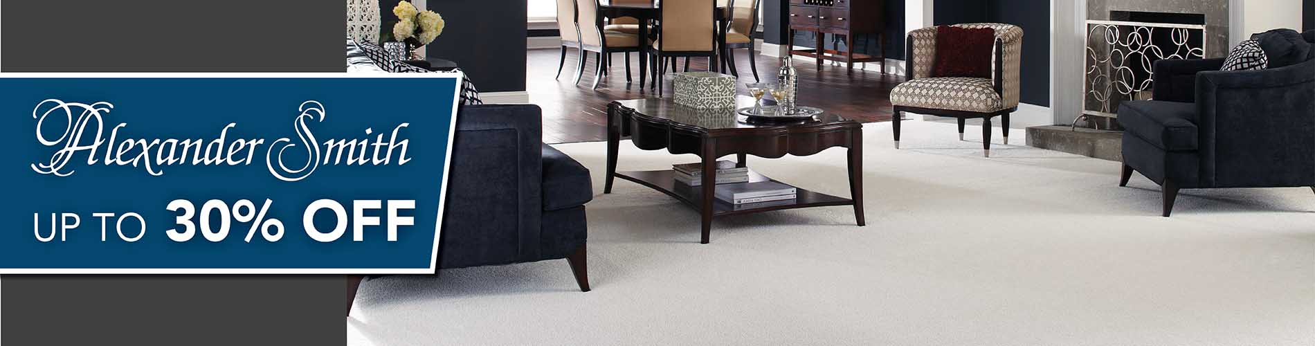 Alexander Smith sale 30% off at Flooring USA Kitchen and Bath Design Center