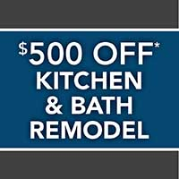 $500 off kitchen and bath remodel projects over $10,000 during our sale at Flooring USA