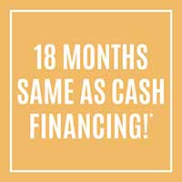 18 months same as cash financing