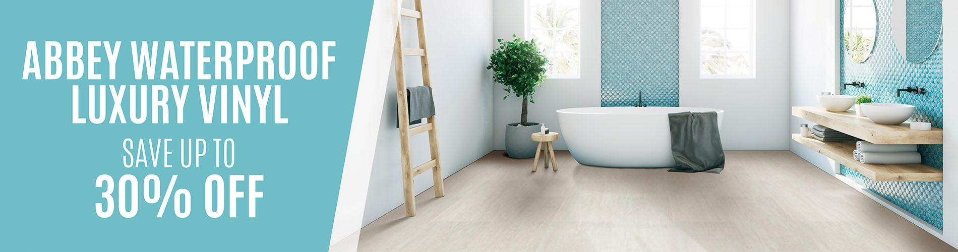 Save up to 30% off Abbey waterproof luxury vinyl flooring